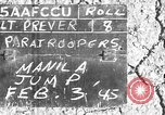 Image of paratroopers Philippines, 1945, second 1 stock footage video 65675050805
