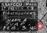 Image of paratroopers Philippines, 1945, second 5 stock footage video 65675050805