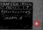 Image of paratroop infantrymen Philippines, 1945, second 2 stock footage video 65675050806