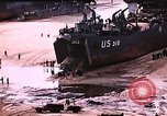 Image of establishment of beachhead Normandy France, 1944, second 10 stock footage video 65675050823