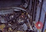 Image of USS Bunker Hill (CV-17) after Kamikaze attack Pacific Ocean, 1945, second 11 stock footage video 65675050832