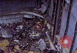 Image of USS Bunker Hill (CV-17) after Kamikaze attack Pacific Ocean, 1945, second 12 stock footage video 65675050832