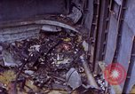Image of USS Bunker Hill (CV-17) after Kamikaze attack Pacific Ocean, 1945, second 13 stock footage video 65675050832