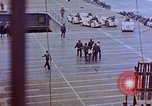 Image of USS Bunker Hill (CV-17) after Kamikaze attack Pacific Ocean, 1945, second 25 stock footage video 65675050832