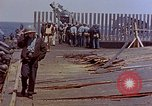 Image of USS Bunker Hill (CV-17) after Kamikaze attack Pacific Ocean, 1945, second 41 stock footage video 65675050832