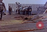 Image of USS Bunker Hill (CV-17) after Kamikaze attack Pacific Ocean, 1945, second 46 stock footage video 65675050832
