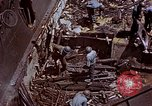 Image of USS Bunker Hill (CV-17) after Kamikaze attack Pacific Ocean, 1945, second 54 stock footage video 65675050832