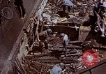 Image of USS Bunker Hill (CV-17) after Kamikaze attack Pacific Ocean, 1945, second 55 stock footage video 65675050832