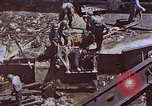 Image of USS Bunker Hill (CV-17) after Kamikaze attack Pacific Ocean, 1945, second 56 stock footage video 65675050832