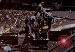 Image of USS Bunker Hill (CV-17) after Kamikaze attack Pacific Ocean, 1945, second 61 stock footage video 65675050832