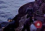 Image of CV-6 USS Enterprise aftermath of kamikaze attack Pacific Ocean, 1945, second 9 stock footage video 65675050833