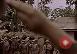 Image of American flag raising ceremony Saipan Northern Mariana Islands, 1944, second 2 stock footage video 65675050871