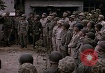 Image of American flag raising ceremony Saipan Northern Mariana Islands, 1944, second 35 stock footage video 65675050871