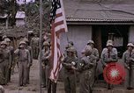 Image of American flag raising ceremony Saipan Northern Mariana Islands, 1944, second 37 stock footage video 65675050871
