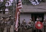 Image of American flag raising ceremony Saipan Northern Mariana Islands, 1944, second 38 stock footage video 65675050871