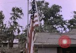 Image of American flag raising ceremony Saipan Northern Mariana Islands, 1944, second 39 stock footage video 65675050871
