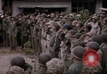 Image of American flag raising ceremony Saipan Northern Mariana Islands, 1944, second 46 stock footage video 65675050871
