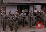 Image of American flag raising ceremony Saipan Northern Mariana Islands, 1944, second 49 stock footage video 65675050871