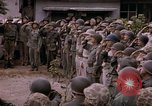 Image of American flag raising ceremony Saipan Northern Mariana Islands, 1944, second 53 stock footage video 65675050871