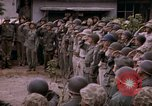 Image of American flag raising ceremony Saipan Northern Mariana Islands, 1944, second 54 stock footage video 65675050871