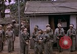 Image of American flag raising ceremony Saipan Northern Mariana Islands, 1944, second 60 stock footage video 65675050871