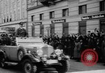 Image of Hitler in Linz during German Anschluss Linz Austria, 1938, second 24 stock footage video 65675050934