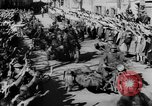 Image of German soldiers greeted by Austrians during Anschluss Austria, 1938, second 26 stock footage video 65675050939