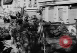 Image of German soldiers greeted by Austrians during Anschluss Austria, 1938, second 38 stock footage video 65675050939