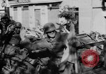 Image of German soldiers greeted by Austrians during Anschluss Austria, 1938, second 39 stock footage video 65675050939