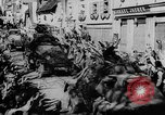 Image of German soldiers greeted by Austrians during Anschluss Austria, 1938, second 50 stock footage video 65675050939