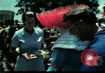 Image of Clown entertains Vietnamese refugee children Florida United States USA, 1975, second 13 stock footage video 65675050952