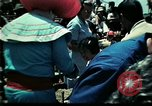Image of Clown entertains Vietnamese refugee children Florida United States USA, 1975, second 18 stock footage video 65675050952