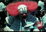 Image of Clown entertains Vietnamese refugee children Florida United States USA, 1975, second 28 stock footage video 65675050952