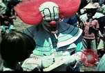 Image of Clown entertains Vietnamese refugee children Florida United States USA, 1975, second 34 stock footage video 65675050952