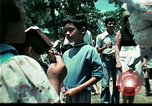 Image of Clown entertains Vietnamese refugee children Florida United States USA, 1975, second 54 stock footage video 65675050952