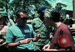 Image of Clown entertains Vietnamese refugee children Florida United States USA, 1975, second 59 stock footage video 65675050952
