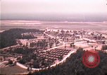 Image of aerial view of Vietnamese refugee camp at Eglin Air Force Base Florida United States USA, 1975, second 3 stock footage video 65675050956