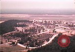 Image of aerial view of Vietnamese refugee camp at Eglin Air Force Base Florida United States USA, 1975, second 5 stock footage video 65675050956