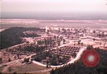 Image of aerial view of Vietnamese refugee camp at Eglin Air Force Base Florida United States USA, 1975, second 8 stock footage video 65675050956