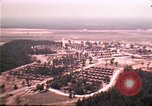 Image of aerial view of Vietnamese refugee camp at Eglin Air Force Base Florida United States USA, 1975, second 9 stock footage video 65675050956