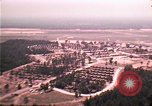 Image of aerial view of Vietnamese refugee camp at Eglin Air Force Base Florida United States USA, 1975, second 11 stock footage video 65675050956