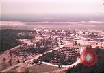 Image of aerial view of Vietnamese refugee camp at Eglin Air Force Base Florida United States USA, 1975, second 14 stock footage video 65675050956