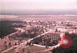 Image of aerial view of Vietnamese refugee camp at Eglin Air Force Base Florida United States USA, 1975, second 15 stock footage video 65675050956