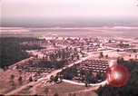 Image of aerial view of Vietnamese refugee camp at Eglin Air Force Base Florida United States USA, 1975, second 16 stock footage video 65675050956