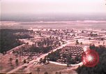 Image of aerial view of Vietnamese refugee camp at Eglin Air Force Base Florida United States USA, 1975, second 17 stock footage video 65675050956