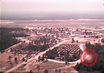 Image of aerial view of Vietnamese refugee camp at Eglin Air Force Base Florida United States USA, 1975, second 18 stock footage video 65675050956