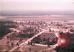 Image of aerial view of Vietnamese refugee camp at Eglin Air Force Base Florida United States USA, 1975, second 20 stock footage video 65675050956