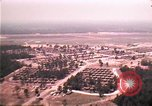 Image of aerial view of Vietnamese refugee camp at Eglin Air Force Base Florida United States USA, 1975, second 21 stock footage video 65675050956