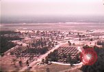 Image of aerial view of Vietnamese refugee camp at Eglin Air Force Base Florida United States USA, 1975, second 22 stock footage video 65675050956