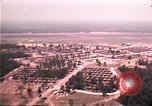 Image of aerial view of Vietnamese refugee camp at Eglin Air Force Base Florida United States USA, 1975, second 23 stock footage video 65675050956